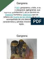 Gangrena presentación ppt