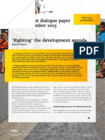 'Righting' the development agenda | Development Dialogue paper on Post-2015 perspectives