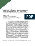 detección de simulación en enajenación mental en contexto legal