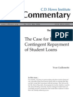The Case for Income-Contingent Repayment of Student Loans