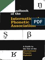 [International Phonetic Association] Handbook of the IPA