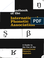 [International Phonetic Association] Handbook of the IPA