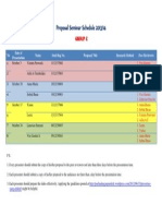 Proposal Seminar Schedule  C
