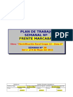 Modelo Plan de Trabajo Semannal - ESPECÍFICO