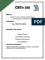 CBTis 233mantenimiento