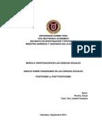 Paradigmas en Las Ciencias Sociales Positivismo y Post Positivismo