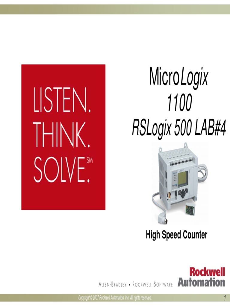 AB - MicroLogix 1100 Hands-On Lab_part4 | Subroutine | Automation