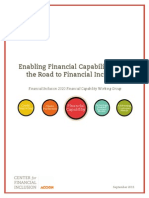 Enabling Financial Capability Along the Road to Financial Inclusion