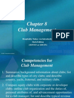 Chapter 8 Club Management