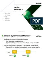 Synchronous Ethernet Customer