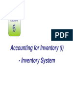 Lecture 6 Accounting for Inventory (I)