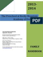 RMAE Preschool Family Handbook 2013-2014