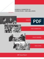 National Committee on United States-China Relations - Annual Report 2007