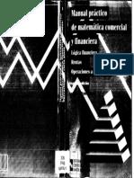 Manual Practico de Matematicas Comercial y Financiera Uned