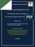 Reporte de La Persepcion Psicologica Del Color