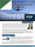 Ageing Aircraft Maintenance Management  Nadeem
