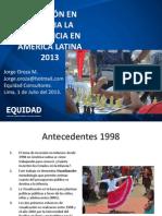 America Latina Inversion Infancia Oroza