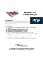 Introduction and Details of Embedded Linux Platform Developer Training Course