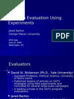 Program Evaluation Experimentation