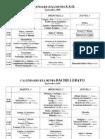 Calendario Examenes SEP 09