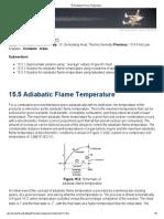 Adiabatic Flame Temp