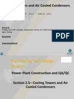 Cooling Towers and Air Cooled Condensers
