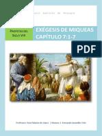 Exégesis Miqueas 7.1-7