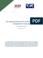 Las Organizaciones de La Sociedad Civil en La Legislacion Mexicana-USAID