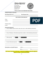 Rahway OPRA Request Form