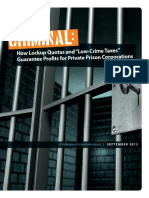 Criminal Lockup Quota Report