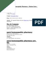 Homeopathy Pharmacy Contact