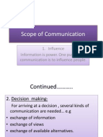 Scope of Communication (1)