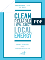 2013 City of Boulder Community Guide on Municipalization - Potential formation of a local electric utility