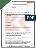 UPSC IAS Preliminary Exam Syllabus