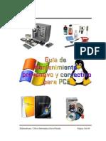 EL MANTENIMIENTO PREVENTIVO Y CORRECTIVO EN EQUIPOS DE CÓMPUTO. Tecnico Medio David Peralta