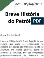 breve história do petróleo