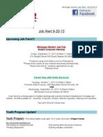 Job Alert - 9-20-2013
