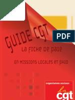 Guide CGT La Fiche de Paie