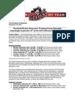 Portland Pirates Announce Training Camp Schedule