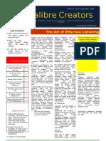 Calibre Creators Newsletter-sept 12