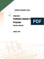 Pathfinder Sabbath Camping Programs Resource Document - Jan 09