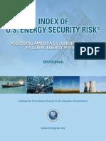 Index of U.S. Energy Security Risk