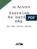 Austen Jane Szerelem Es Baratsag