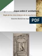 Regla de los cinco órdenes de la arquitectura-Giacomo Barozzi Da Vignola