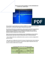 Teclas o Combinaciones de Teclas Para Acceder a La Bios Dependiendo de La Marca Del Computador