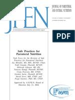 Aspen Guidelines Parenteral Nutrition