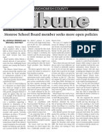 Monroe School Board member seeks more open policies