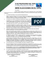 Comunicado sobre la legalidad del COLEGIO DE PROFESORES DEL PERÚ 13-09-13