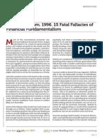 Www.columbia.edu Vickrey William 1996 15 Fatal Fallacies of Financial Fundamentalism