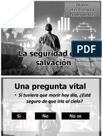 La seguridad de la salvación I aniversario IBE Callao